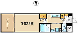 UNO武庫之荘[4階]の間取り