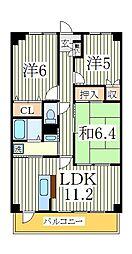 デセンシア柏[7階]の間取り
