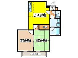 東京都府中市西府町2丁目の賃貸アパートの間取り