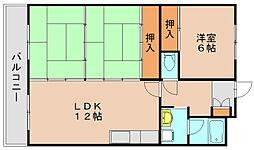 エクセレント田口[1階]の間取り