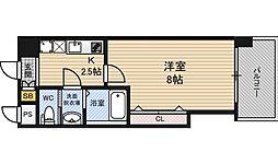 ラグゼ新大阪EAST2 14階1Kの間取り