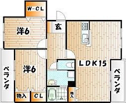 プレステージ葉山II[3階]の間取り