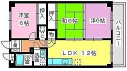 シャトル浩栄[3階]の間取り