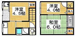 [タウンハウス] 大阪府堺市堺区南三国ヶ丘町4丁 の賃貸【/】の間取り