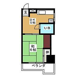 エリーマンション[3階]の間取り