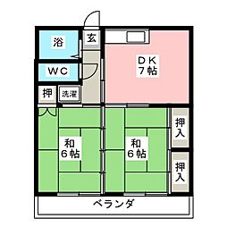 ALIVIO K[2階]の間取り