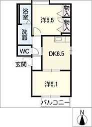 メゾンR&AIV[1階]の間取り