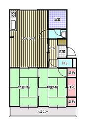 桜ヶ丘マンション[G160号室]の間取り