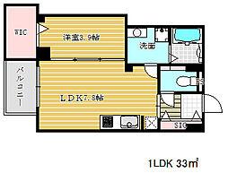 兵庫県神戸市中央区琴ノ緒町3丁目の賃貸マンションの間取り