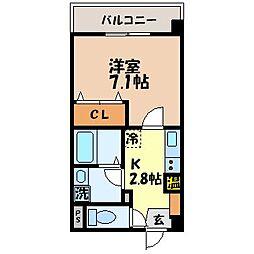 ウィスタリアマンション[302号室]の間取り