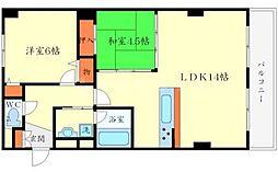 千里泉マンション[4階]の間取り