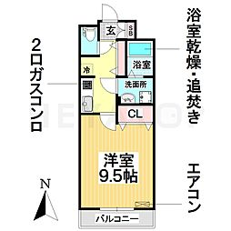 愛知県名古屋市南区菊住2丁目の賃貸アパートの間取り