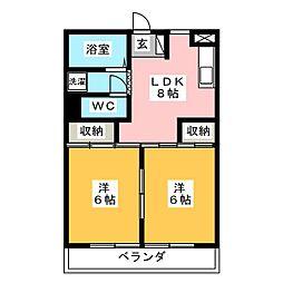 マンションオザキ[3階]の間取り