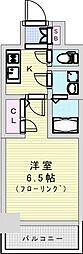 おおさか東線 JR淡路駅 徒歩7分の賃貸マンション 3階1Kの間取り