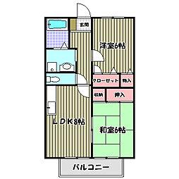 大阪府堺市南区土佐屋台の賃貸アパートの間取り