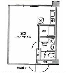 アックス横浜戸塚[105号室]の間取り