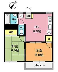 栄ハイツ[2階]の間取り