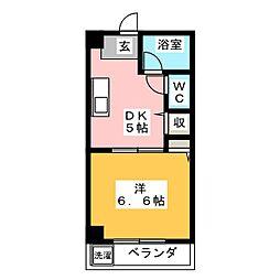 フラット2[3階]の間取り