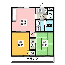 プリミエール菊地[2階]の間取り