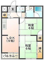 永楽シャトルマンション[2階]の間取り