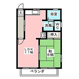 メゾングレージュ[2階]の間取り