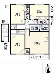 リバーサイドレジデンスB棟[2階]の間取り