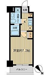 神奈川県厚木市旭町1丁目の賃貸マンションの間取り