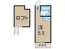 ヴィラ蕨[2階]の間取り