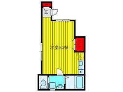 JR京浜東北・根岸線 上中里駅 徒歩7分の賃貸アパート 1階ワンルームの間取り