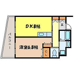 滋賀県大津市御幸町の賃貸マンションの間取り