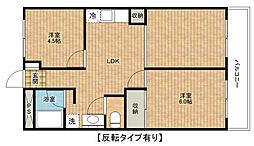 赤芝ハイツ[1階]の間取り