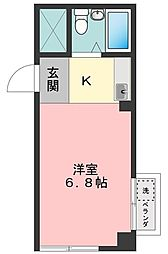 コーポ永[2階]の間取り