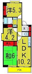カームライフ綾瀬[6階]の間取り