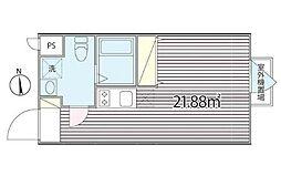 CASA BLOCCO ~カーサブロッコ~ 3階ワンルームの間取り