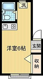 ライトコーポ[A201号室]の間取り