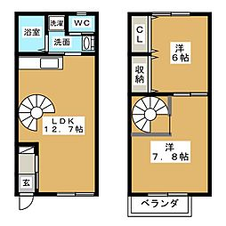 [テラスハウス] 愛知県津島市橘町3丁目 の賃貸【/】の間取り