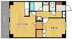 コーポラスF3[2階]の間取り