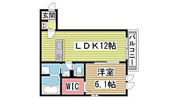 兵庫県神戸市兵庫区三石通3丁目の賃貸マンションの間取り