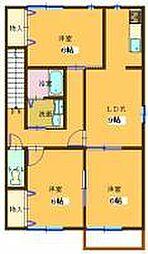コンフォート大島V[C202号室]の間取り