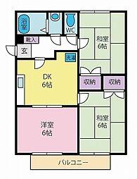 コスモベストハウス[1階]の間取り