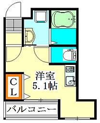 仮称)宮本3丁目共同住宅[402号室]の間取り