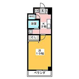 スクエア・ステージ[6階]の間取り