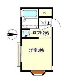ルーチェ湘南[103号室]の間取り