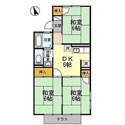 ハイツ桜橋A棟[101号室]の間取り