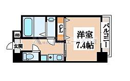 大阪府大阪市生野区中川1丁目の賃貸マンションの間取り