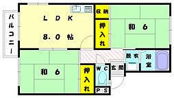 メゾンドプレジール 2[2階]の間取り