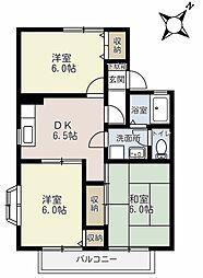 埼玉県さいたま市緑区大字三室の賃貸アパートの間取り