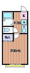東京都立川市錦町1の賃貸マンションの間取り