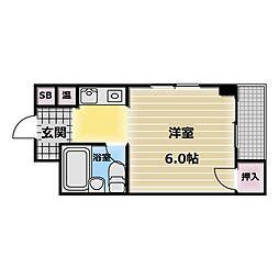足代マンション[3階]の間取り