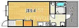 京都府京都市東山区本町15丁目の賃貸アパートの間取り